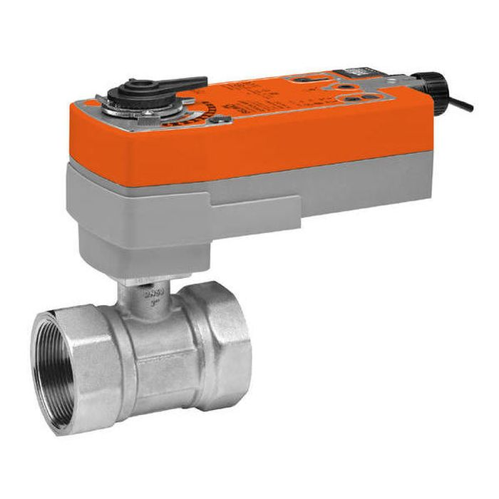 "Belimo B231+AFRB24 Characterized Control Valve (CCV), 1 1/4"", 2-Way, Cv 25, w/ Valve Actuator, Spring Return, AC/DC 24 V, On/Off"