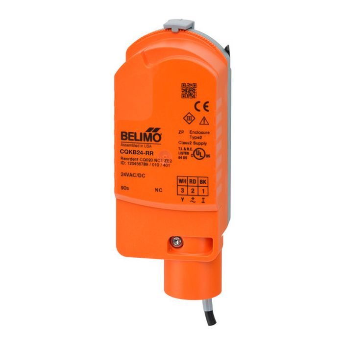 Belimo CQKB24-RR Valve Actuator, Electronic Fail-Safe, AC/DC 24 V, On/Off, Normally Closed, Fail-Safe position Closed