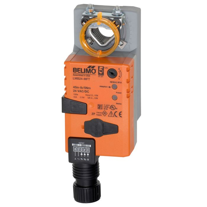 Belimo LMB24-MFT Damper Actuator, 45 in-lb [5 Nm], Non Fail-Safe, AC/DC 24 V, 2-10 V