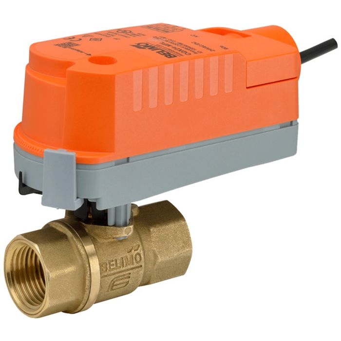Belimo Z2075Q-K+CQKB24-LL ZoneTight (QCV) w/ Valve Actuator, Electronic Fail-Safe, AC/DC 24 V, On/Off, Normally Open, Fail-Safe position Open