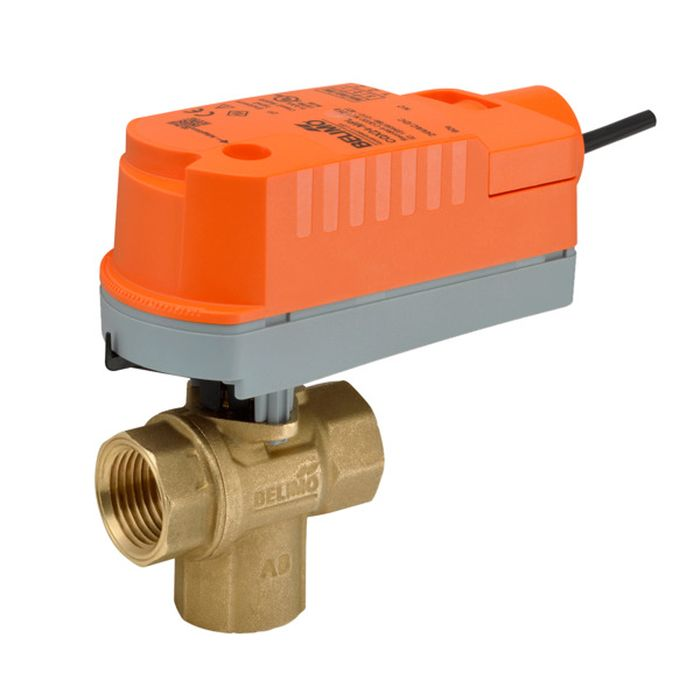 Belimo Z3075Q-J+CQKB24-RR ZoneTight (QCV) w/ Valve Actuator, Electronic Fail-Safe, AC/DC 24 V, On/Off, Normally Closed, Fail-Safe position Closed