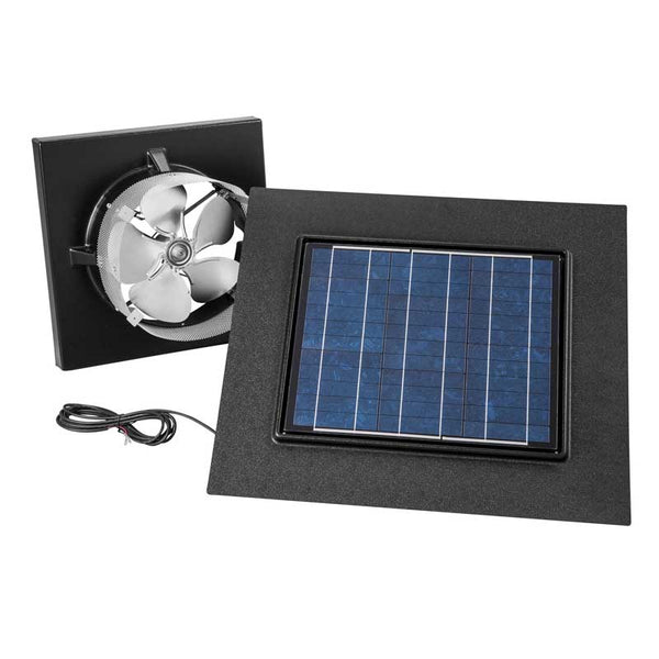 Broan NuTone 345GOBK Gable Mount, Solar Powered Attic Ventilator In Black