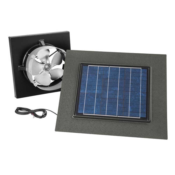Broan NuTone 345GOWW Gable Mount, Solar Powered Attic Ventilator In Weathered Wood