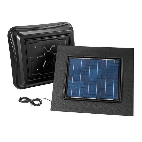 Broan NuTone 345RSOBK Remote Mount, Solar Powered Attic Ventilator In Black