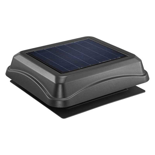 Broan NuTone 345SOBK Surface Mount, Solar Powered Attic Ventilator In Black