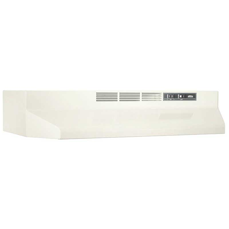 "Broan NuTone 412102 21"" Ductless Under-Cabinet Range Hood w/ Light In Bisque"