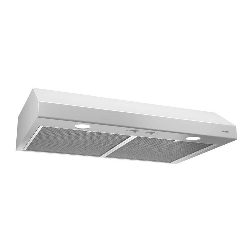 "Broan NuTone BCSD124WW Glacier 24"" 250 CFM White Range Hood w/ Light"