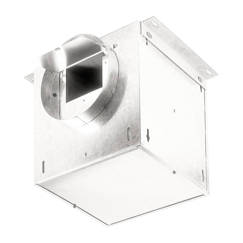 "Broan NuTone L100L In-Line Ventilator, 106 CFM Straight Through, 0.7 Sones, 95 CFM Right Angle, 0.3 Sones. 6"" Rd. Duct Connectors. 120V"