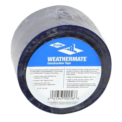 "Dow Weathermate 2-7/8"" x 165' Construction Tape - 267822"