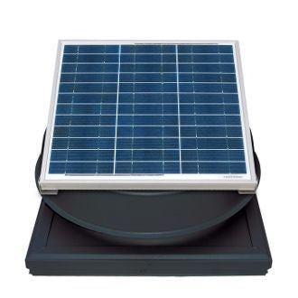 Natural Light Solar Attic Fan 36 Watt Curb Mount Black, Up to 1628 CFM - SAF36CMBL