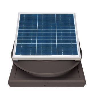 Natural Light Solar Attic Fan 36 Watt Curb Mount Bronze, Up to 1628 CFM - SAF36CMBR