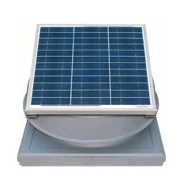 Natural Light Solar Attic Fan 36 Watt Curb Mount Grey, Up to 1628 CFM - SAF36CMGR