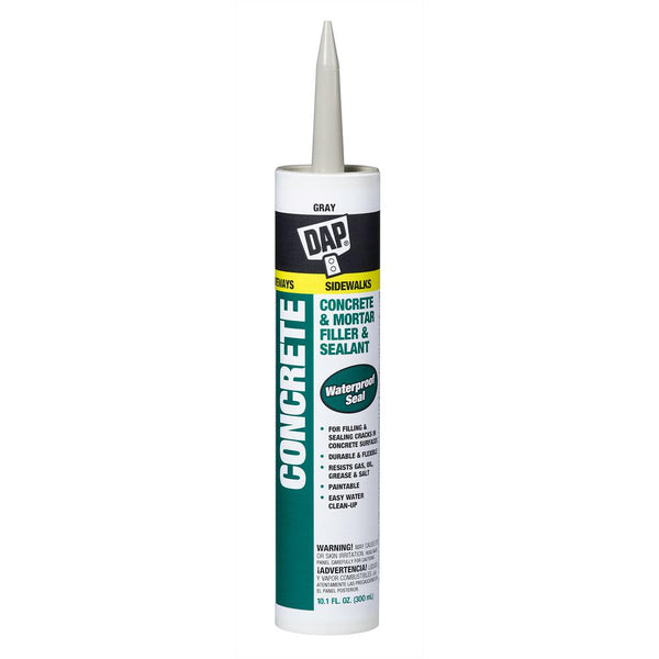 DAP Concrete Waterproof Filler And Sealant, 10.1 oz, Gray, Case of 12