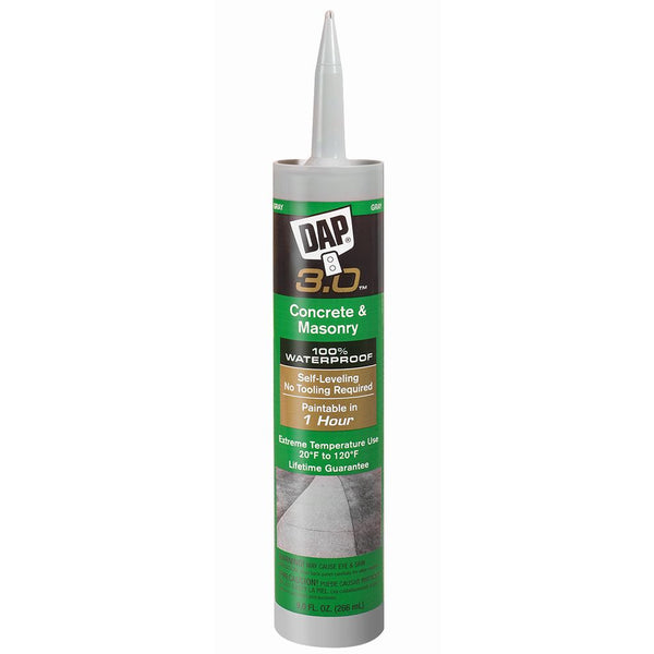 DAP 3.0 Self-Leveling Concrete & Masonry High Performance Sealant, 9.0 oz, Gray, Case of 12