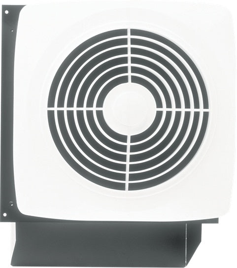"Broan NuTone 509 8"" 180 CFM Through Wall Ventilation Fan, White Square Plastic Grille"