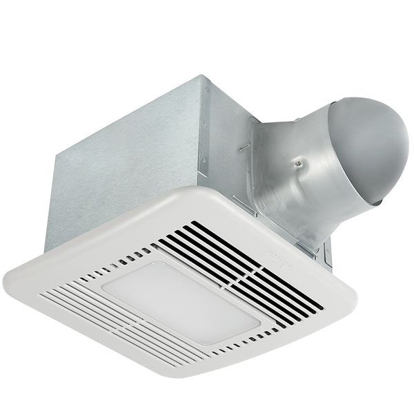Delta Breez SIG80-110DLED Bathroom Exhaust Fan w/LED & Dual Speed, 80/110 CFM