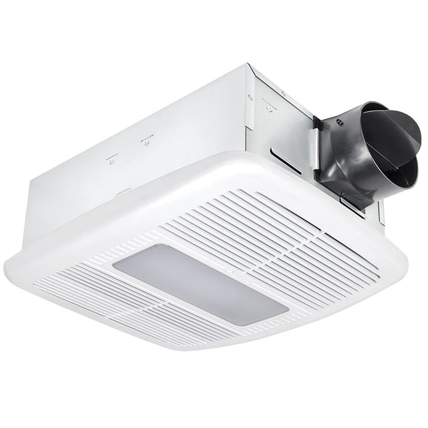 Delta Breez RAD80LED BreezRadiance 80 CFM Bathroom Exhaust Fan/LED Light with Heater