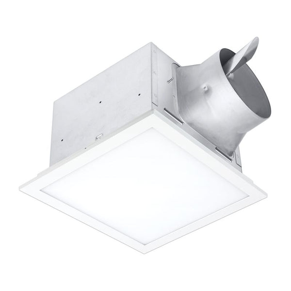 Delta Breez SIG80-110ELED 80/110 CFM Bathroom Exhaust Fan/Edge-lit Dimmable LED light w/ Adjustable Color Temperature