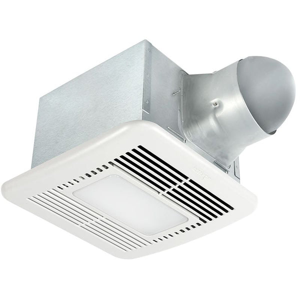 Delta Breez SIG80-110HLED 80/110 CFM Bathroom Exhaust Fan/Dimmable LED light/Night-Light with Humidity Sensor