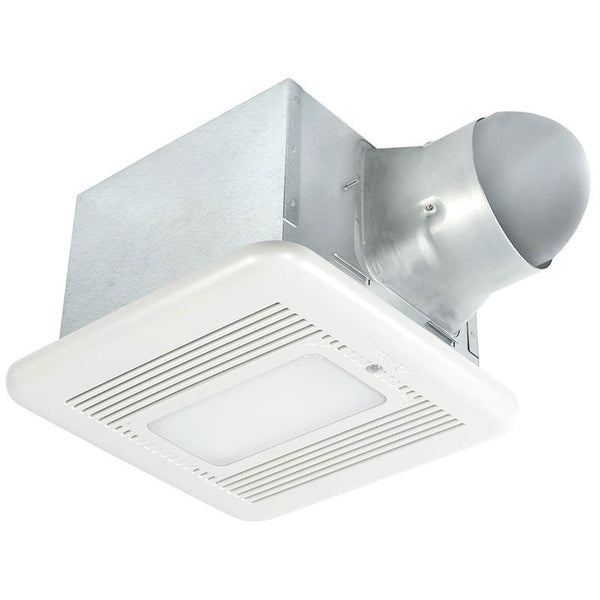 Delta Breez SIG80-110MHLED 80/110 CFM Bathroom Exhaust Fan/Dimmable LED Light/Night-Light with Motion and Humidity Sensor