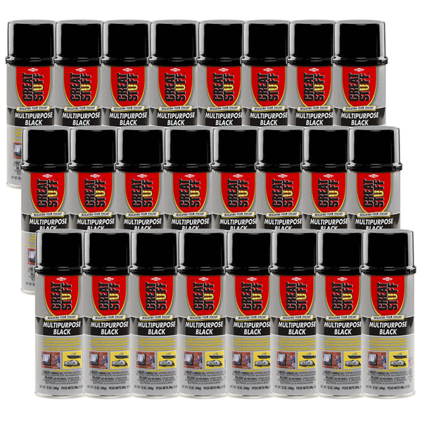 Dow Great Stuff 12 oz Multipurpose Black Insulating Foam Sealant 24 Cans/Case