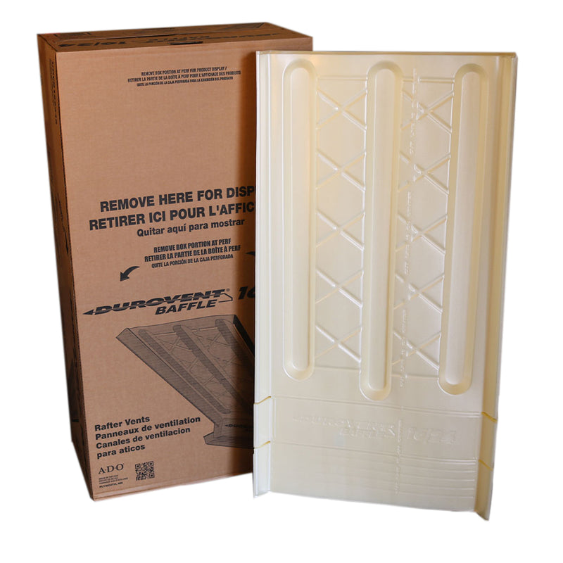 "Durovent Baffle UDVB152346 15""x23""x46"" Rafter Vent, Carton of 70"