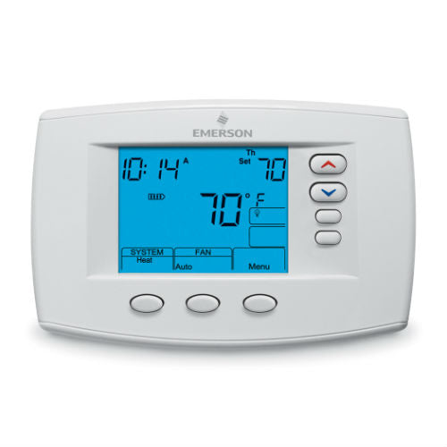 "White Rodgers Emerson Blue 6"" Programmable Thermostat - 1F95-0671"