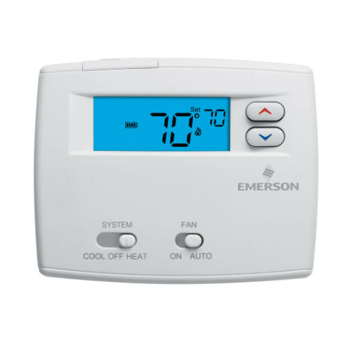 White Rodgers Emerson Blue Non-Programmable Single Stage Thermostat - 1F86-0244