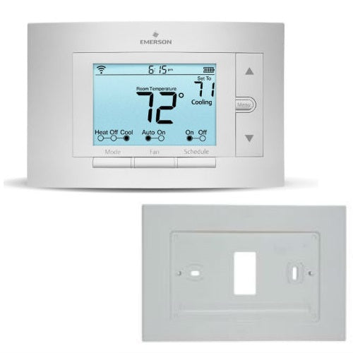 Emerson Sensi Bundle Wi-Fi Thermostat w/ Wallplate - 1F86U-42WF