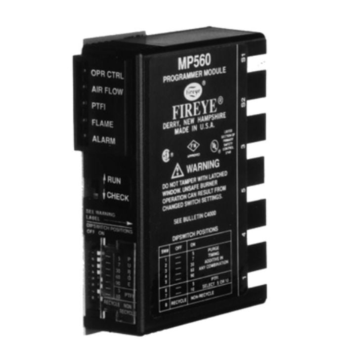 Fireye MP102E Programmer, 5 Sec TFI, Lockout On Flame Failure for MC230 Only