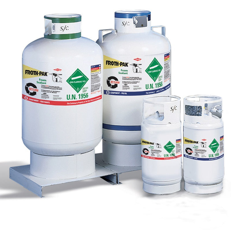Dow Froth Pak Refillable Cylinders, 350 Gallon Tanks - 341166-345348