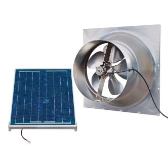 Natural Light Solar Attic Fan 12 Watt Gable Mount, Up to 893 CFM - SAF12-GABLE
