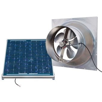 Natural Light Solar Attic Fan 24 Watt Gable Mount, Up to 1339 CFM - SAF24-GABLE