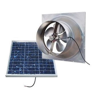 Natural Light Solar Attic Fan 36 Watt Gable Mount, Up to 1628 CFM - SAF36-GABLE