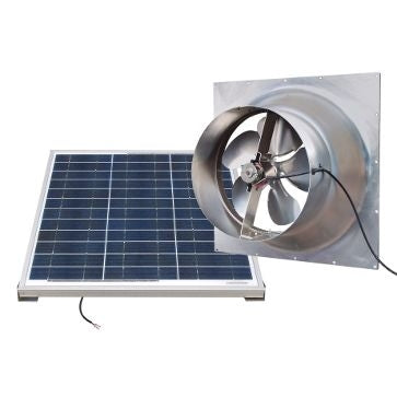Natural Light Solar Attic Fan 60 Watt Gable Mount, Up to 1995 CFM - SAF60-GABLE