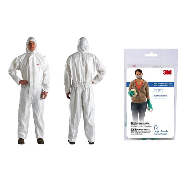 3M Safety Kit - Coverall and Nitrile Gloves - Large