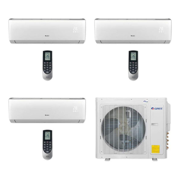 Gree Multi21+ 30k BTU Tri-Zone Ductless Mini Split Heat Pump System - 208/230V (9k-12k-18k)