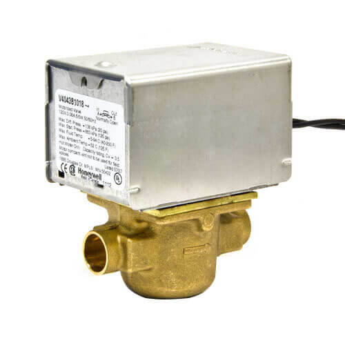 "Honeywell V8043A1037 24v Zone Valve 1"" Sweat, 2-Pos N.C. CV=3.5 Replaces MZV526"