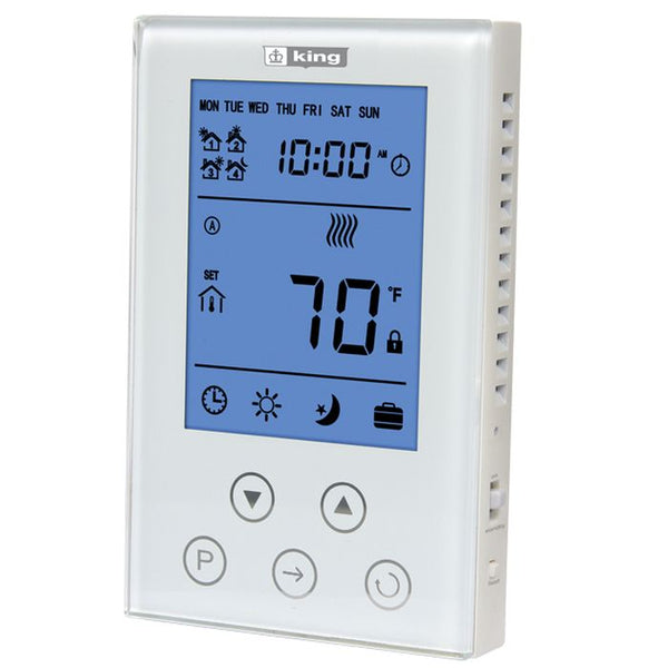 King K302PE ClearTouch Programable Thermostat Programmable DP 120/208/240V 15A