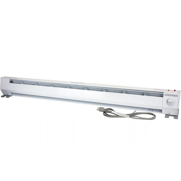 King KP1215-ECO Portable 2-Stage Baseboard Heater 5 ft 120V 750/1500W, White
