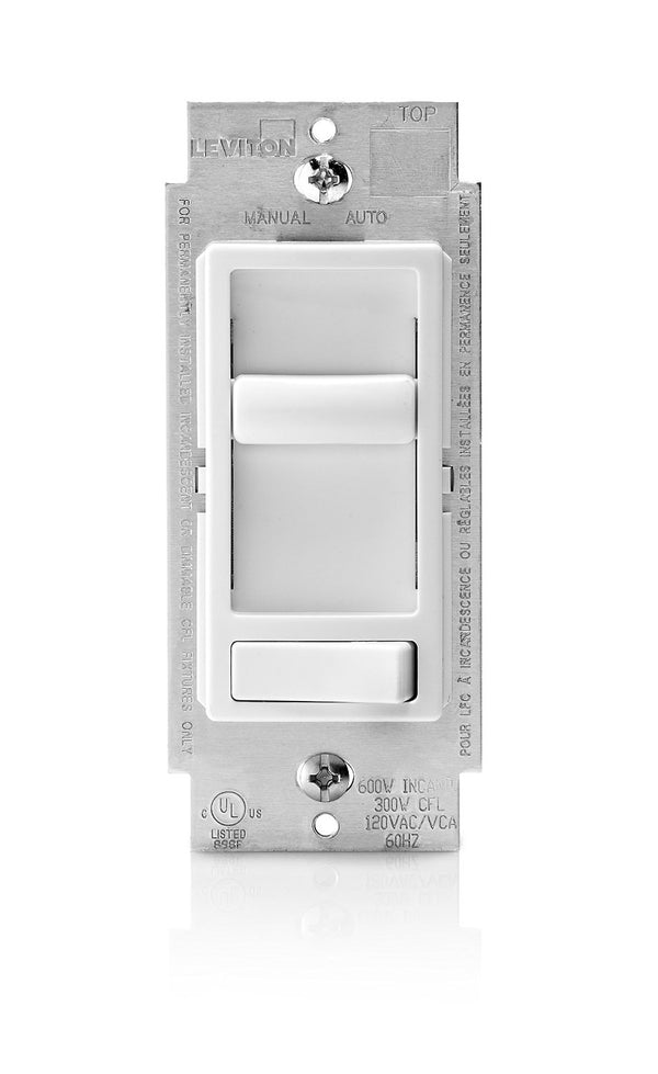 Leviton 6674 Decora SureSlide Dimmer, White, Pack of 3 (Minimum order quantity 6 Packs )