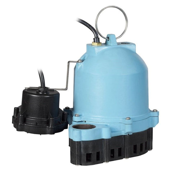 Little Giant ES33D1-10 1/3 HP Sump Pump, 115V 10Ft 60Hz Piggyback Vertical Diaphragm
