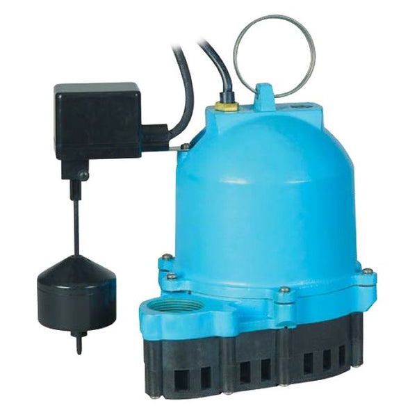 Little Giant ES33V1-10 1/3 HP Sump Pump, 115V 10Ft 60Hz Piggyback Vertical Mechanical