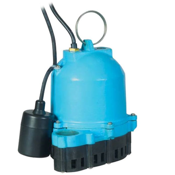 Little Giant ES33W1-10 1/3 HP Sump Pump, 115V 10Ft 60Hz Piggyback Mechanical Float