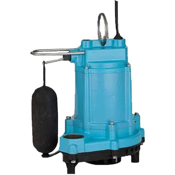 Little Giant 6EC-CIA-SFS 1/3HP Sump Pump, 115V 10Ft 60Hz, Polypropylene Base