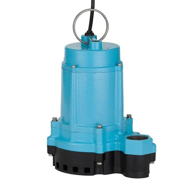 Little Giant 6EC-CIM 1/3HP Sump Pump, 115V 10Ft 60Hz, Cast Iron Base
