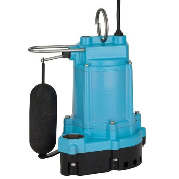 Little Giant 6EC-CIA-SFS 1/3HP Sump Pump, 115V 20Ft 60Hz, Cast Iron Base