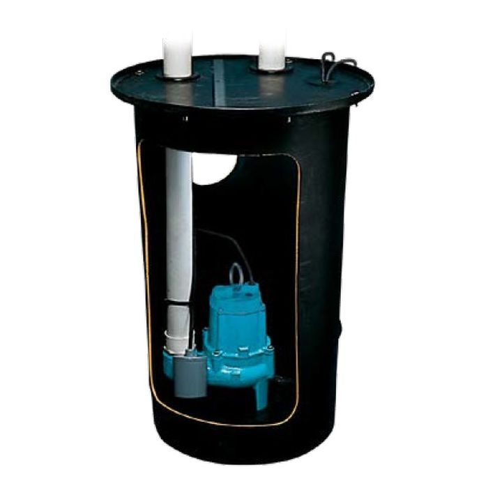 Little Giant 10S-SMPX Pre-Packaged Simplex Sewage System (Assembly Required), BS1830CS2V2D