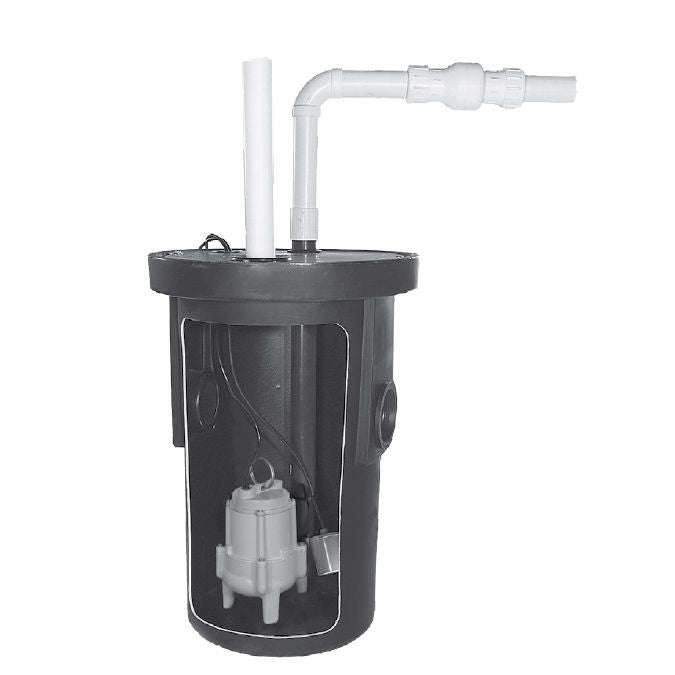 Little Giant 9S-SMPXRT-K Pre-Packaged Simplex Wastewater System (Assembly Required), BS1830CSRT-K