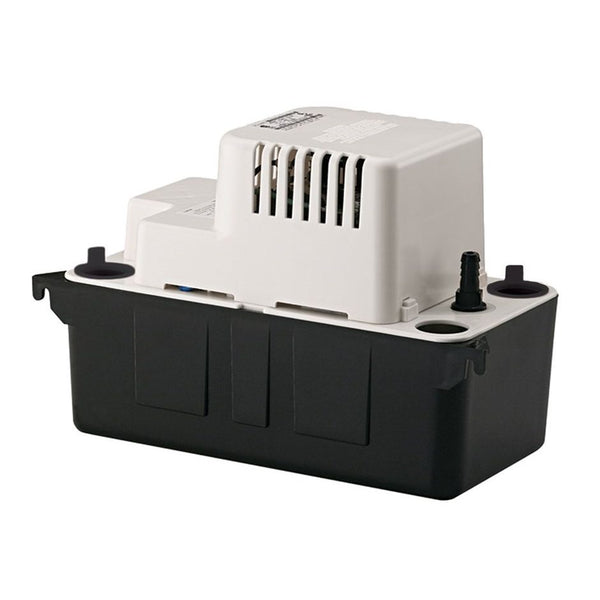 Little Giant VCMA-20ULST Automatic Condensate Removal Pump 230V, 1/2 Gallon ABS Tank, 17' Shut-Off Head